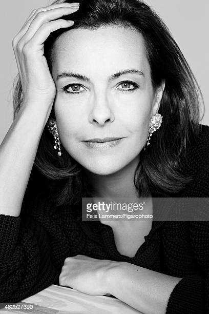 Actress Carole Bouquet is photographed for Madame Figaro on December 22 2014 in Paris France Pullover earrings CREDIT MUST READ Felix...
