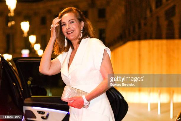 Actress Carole Bouquet is seen after the CHANEL J12 cocktail on Place Vendome on May 02 2019 in Paris France