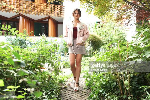 Actress Carole Combes from the film 'Apres Mai' poses during the 69th Venice Film Festival at the Quattro Fontane Hotel on September 4 2012 in Venice...