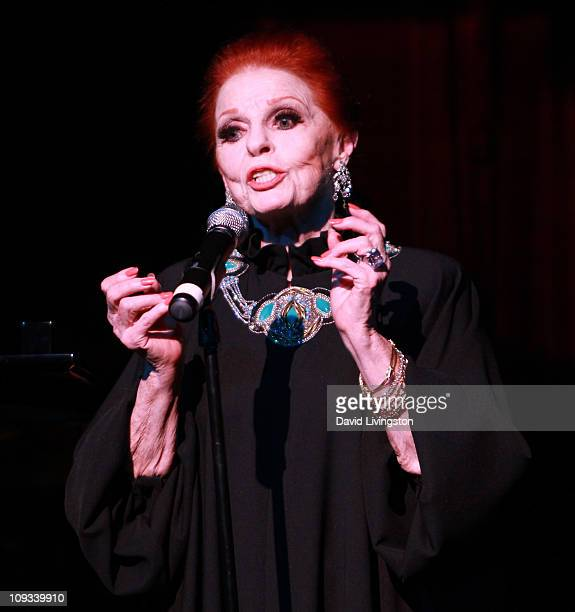 Actress Carole Cook appears on stage at Carol Channing's 90th birthday celebration at the Pantages Theatre on February 21 2011 in Hollywood California