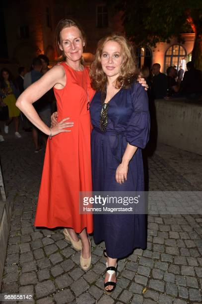 Actress Carolin Fink and Patricia Lueger at the Event Movie meets Media during the Munich Film Festival on June 30 2018 in Munich Germany