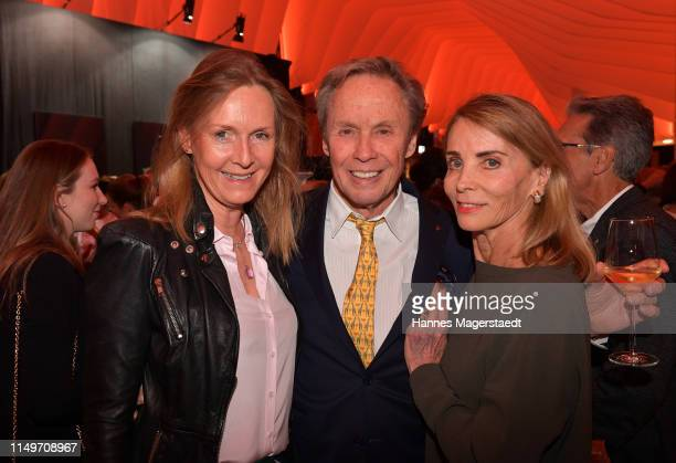 Actress Carolin Fink Peter Kraus and his wife Ingrid Kraus attend the Veneration exhibition opening in cooperation with photographer Mike Kraus on...