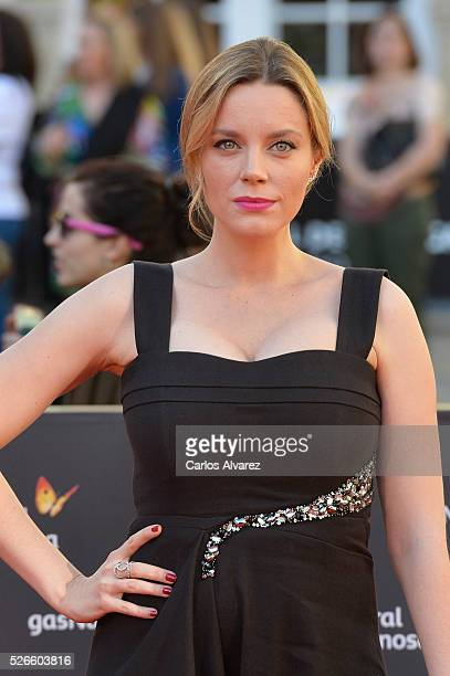 Actress Carolina Bang attends Nuestros Amantes premiere at the Cervantes Teather during the 19th Malaga Film Festival on April 30 2016 in Malaga Spain