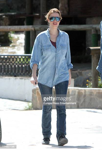 Actress Carolina Bang is seen sighting on May 18 2011 in Cadiz Spain