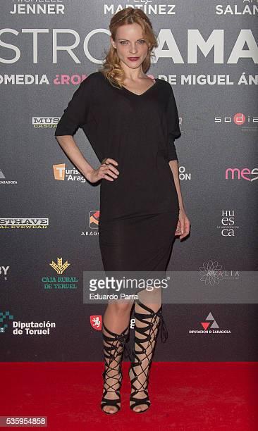 Actress Carolina Bona attends the 'Nuestros amantes' premiere at Palafox cinema on May 30 2016 in Madrid Spain