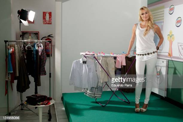 Actress Carolina Cerezuela attends new Ariel product photocall at The Loft Cost on September 14 2011 in Madrid Spain