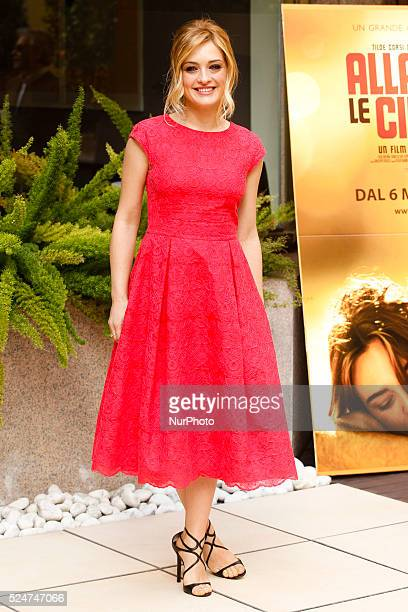actress Carolina Crescentini attends Fasten your Seatbelts photocall in Rome Visconti Palace