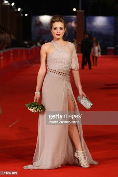 Actress Carolina Crescentini attends the 'Oggi Sposi' Premiere during day 6 of the 4th Rome International Film Festival held at the Auditorium Parco...
