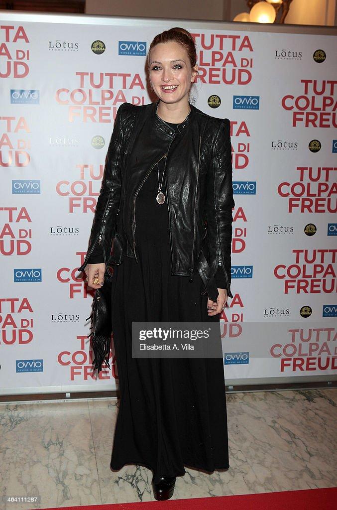 Actress Carolina Crescentini attends 'Tutta colpa di Freud' premiere at Teatro dell'Opera on January 20, 2014 in Rome, Italy.