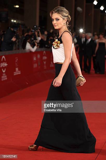 Actress Carolina Crescentini walks the Closing Ceremony Red Carpet during 6th International Rome Film Festival on November 4 2011 in Rome Italy