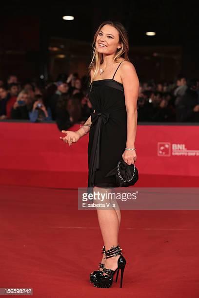Actress Carolina Facchinetti attends the 'Razza Bastarda' Premiere during the 7th Rome Film Festival at the Auditorium Parco Della Musica on November...