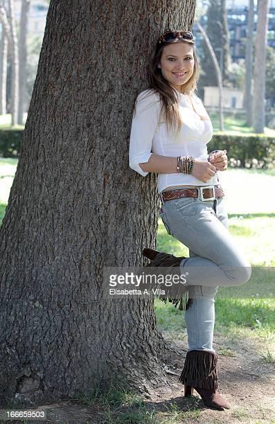 Actress Carolina Fachinetti attends Razza Bastarda photocall at Villa Borghese on April 15 2013 in Rome Italy