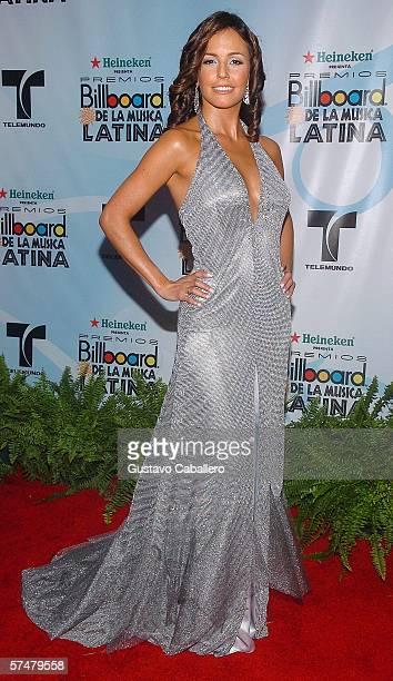 Actress Carolina Lizarazo arrives for the 2006 Billboard Latin Music Awards at the Seminole Hard Rock Hotel Casino on April 27 2006 in Hollywood...