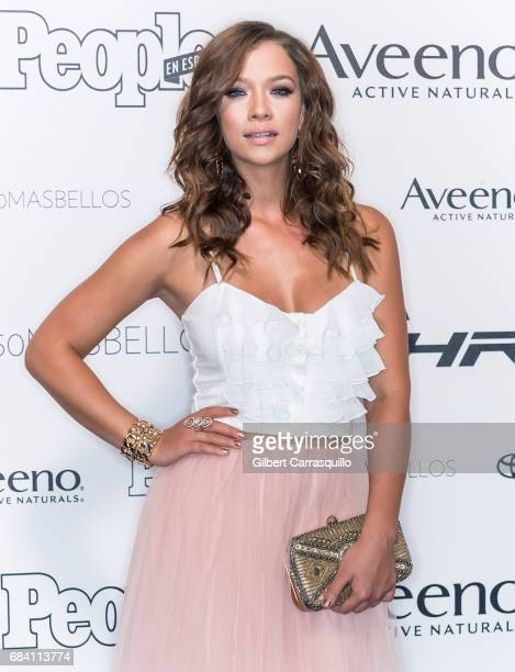 Actress Carolina Miranda arrives at People en Espanol's 50 Most Beautiful Gala 2017 at Espace on May 16 2017 in New York City
