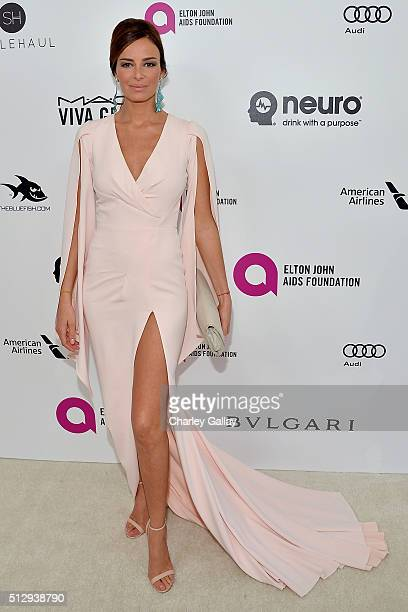 Actress Carolina Parsons attends Neuro at the 24th Annual Elton John AIDS Foundation's Oscar Viewing Party at The City of West Hollywood Park on...