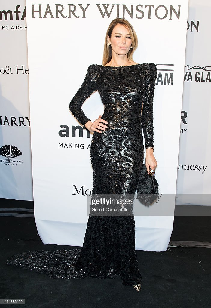 Actress Carolina Parsons attends the 2015 amfAR New York Gala at Cipriani Wall Street on February 11, 2015 in New York City.