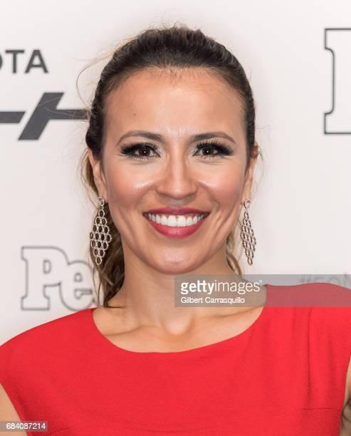 Actress Carolina Trejos arrives at People en Espanol's 50 Most Beautiful Gala 2017 at Espace on May 16 2017 in New York City