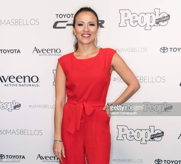 Actress Carolina Trejos arrives at People en Espanol's 50 Most Beautiful Gala 2017 at Espace on May 16 2017 in New York City