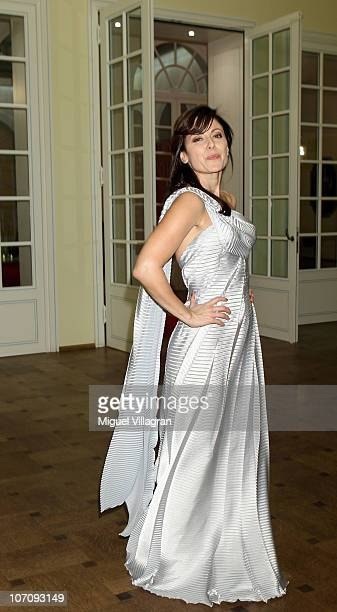 Actress Carolina Vera poses after the award ceremony of the Corine book award on November 23 2010 in Munich Germany