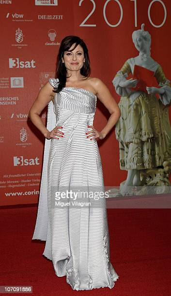 Actress Carolina Vera poses prior to the ceremony of the Corine book award on November 23 2010 in Munich Germany