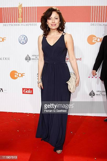Actress Carolina Vera Squella arrives at the Red Carpet for the 'Lola German Film Award 2011' at Friedrichstadtpalast on April 8 2011 in Berlin...