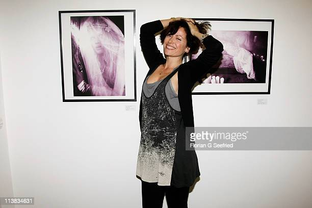 Actress Carolina Vera Squella attends the opening of the exhibition 'The Big Show' by Ellen Von Unwerth and Tush Magazin at the Contributed Gallery...