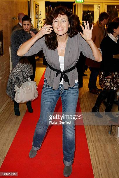 Actress Carolina Vera Squella attends the premiere of 'Haltet Die Welt an' at cinema Astor Film Lounge on March 24 2010 in Berlin Germany