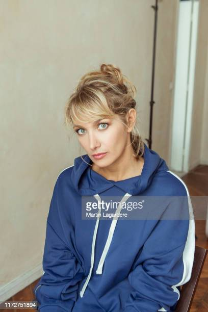 Actress Caroline Anglade poses for a portrait on August 23, 2018 in Paris, France.