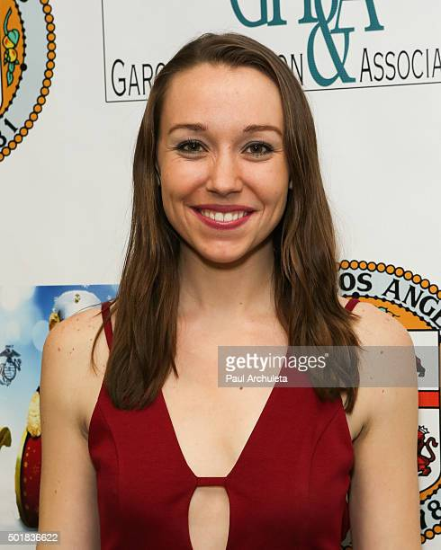 Actress Caroline Barry attends the 16th annual Hollywood Celebrity Toy Drive Extravaganza on December 17 2015 in Los Angeles California