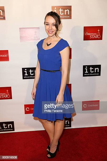 Actress Caroline Barry attends the premiere of Cinemagic and Signature Entertainment's A Christmas Star at TCL Chinese 6 Theatres on December 10 2015...