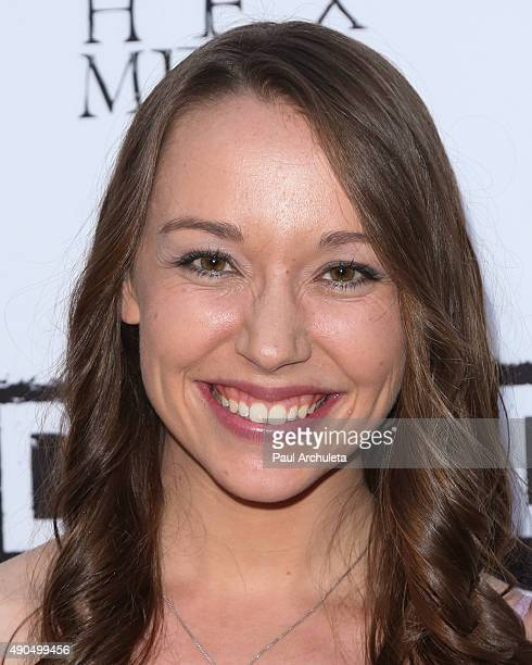 Actress Caroline Barry attends the premiere of Kids Vs Monsters at The Egyptian Theatre on September 28 2015 in Los Angeles California