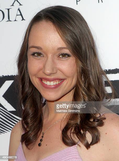 Actress Caroline Barry attends the premiere of Marvista Entertainment's Kids Vs Monsters at The Egyptian Theatre on September 28 2015 in Los Angeles...