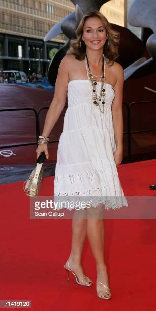 """Actress Caroline Beil arrives at the German premiere of """"Poseidon"""" July 11, 2006 at the Berlinale Palast in Berlin, Germany."""