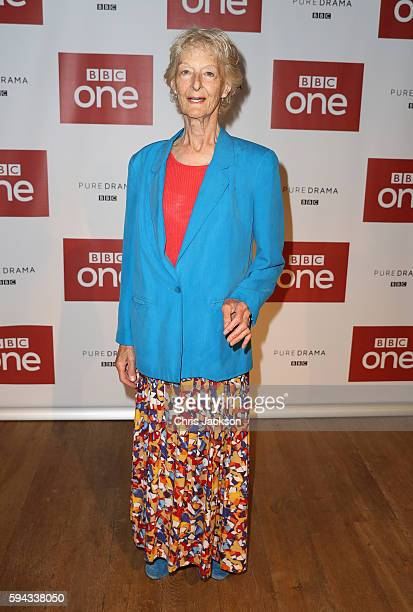 Actress Caroline Blakiston poses for a photograph at the Poldark Series 2 Preview Screening at the BFI on August 22 2016 in London England