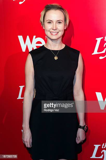 """Actress Caroline Carver arrives at WE tv's Premiere Party for """"The LYLAS"""" at Warwick on November 7, 2013 in Hollywood, California."""