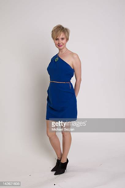 Actress Caroline Carver attends Donate Life's National Blue Green Celebrity Shoot Hosted By Ann Lopez on April 9 2012 in Los Angeles California