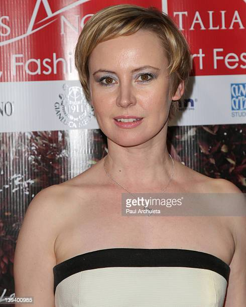 Actress Caroline Carver attends the 7th annual Los Angeles Italia-Film, Fashion and Art Festival opening night at Mann Chinese 6 on February 19, 2012...