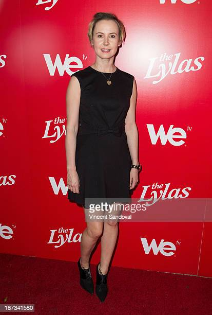 """Actress Caroline Carver attends WE tv's premiere party for """"The LYLAS"""" at Warwick on November 7, 2013 in Hollywood, California."""