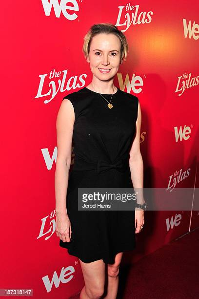 Actress Caroline Carver is seen at WE tv's Celebration for The Premiere Of It's Newest Series The LYLAS at the Warwick on November 7 2013 in...