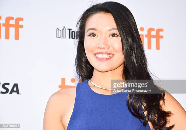 Actress Caroline Chan attends the Assignment premiere during 2016 Toronto International Film Festival at Ryerson Theatre on September 14 2016 in...