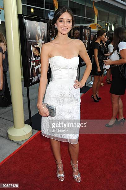 Actress Caroline D'Amore arrives at Summit Entertainment's Premiere of Sorority Row at ArcLight Hollywood on September 3 2009 in Hollywood California
