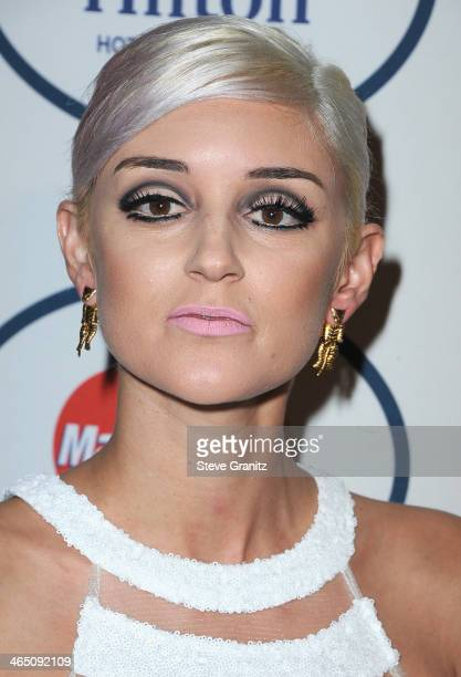 Actress Caroline D'Amore attends the 56th annual GRAMMY Awards PreGRAMMY Gala and Salute to Industry Icons honoring Lucian Grainge at The Beverly...