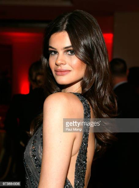 Actress Caroline Day attends the Harvard Business School Club's 3rd Annual Leadership Gala Dinner at the Four Seasons Hotel on June 13 2018 in...