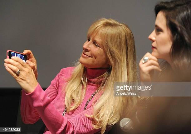 Actress Caroline Dhavernas and producer Martha De Laurentiis attend the Awardsline/Deadline screening of Gaumont Int'l TV/NBC's 'Hannibal' at...