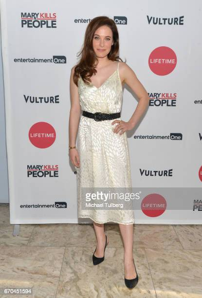 Actress Caroline Dhavernas attends a screening of Entertainment One's 'Mary Kills People' at The London Hotel on April 19 2017 in West Hollywood...