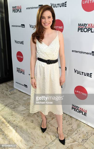 Actress Caroline Dhavernas attends Lifetime's 'Mary Kills People' Broad Focus Screening Event at The London West Hollywood on April 19 2017 in West...
