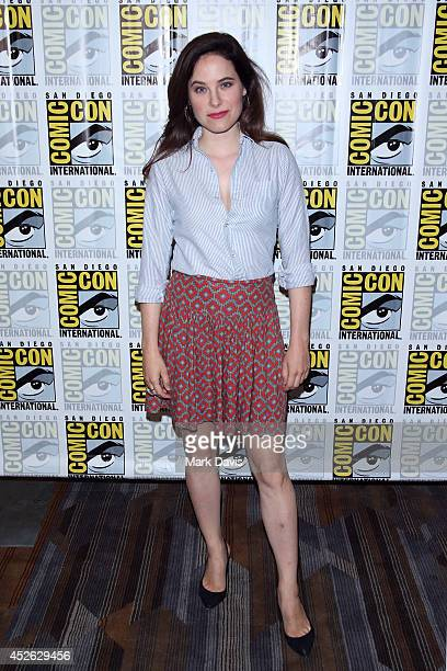 Actress Caroline Dhavernas attends NBC's 'Hannibal' press line during ComicCon International 2014 at Hilton Bayfront on July 24 2014 in San Diego...