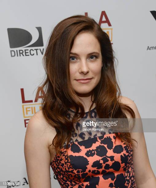Actress Caroline Dhavernas attends the 2013 Los Angeles Film Festival Premiere Of 'Goodbye World' at Regal Cinemas LA Live on June 15 2013 in Los...