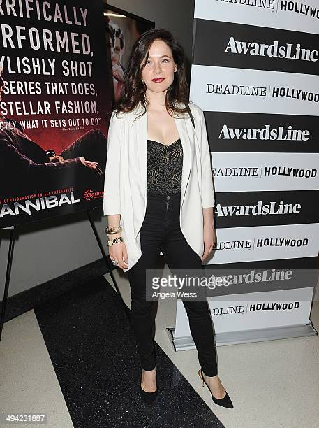 Actress Caroline Dhavernas attends the Awardsline/Deadline screening of Gaumont Int'l TV/NBC's 'Hannibal' at Landmark Theatre on May 28 2014 in Los...