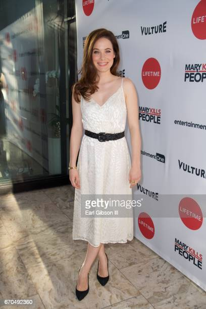 Actress Caroline Dhavernas attends the screening of Entertainment One's 'Mary Kills People' at The London Hotel on April 19 2017 in West Hollywood...